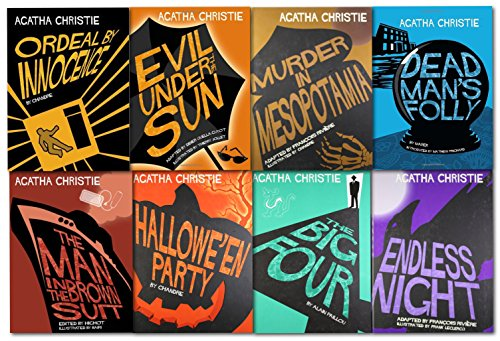 Agatha Christie Comic Strips Graphic Novel 8 Book Collection Set (Ordeal by Innocence, Dead Mans Folly , The Man in the Brown Suit, Halloween Party, The Big Four, Endless Night, Murder in Mesopotamia, Evil Under the Sun)