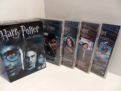 The Harry Potter 1 - 8 Complete DVD Collection: Philosphers Stone, Chamber of Secrets, Goblet of Fire, Prisoner of Azkaban, Order of the Phoenix, Half Blood Prince, Deathly Hallows Part 1, Deathly Hallows Part 2 + Extras + Featurettes etc by Unknown, ISBN: 5055605903121
