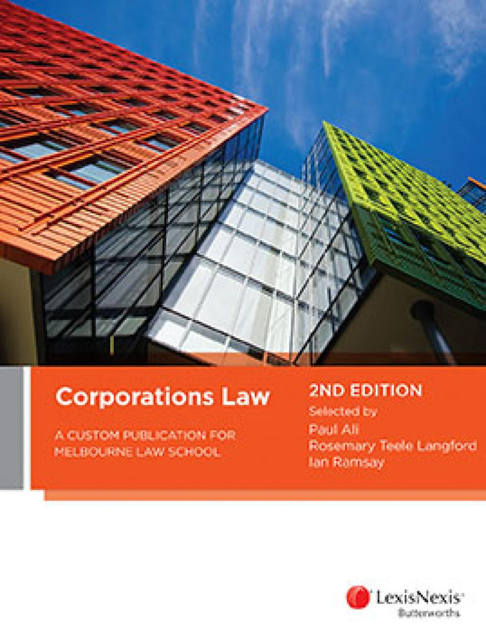 Corporations LawA Custom Publication for Melbourne Law School, ...