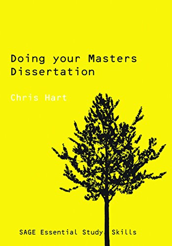 doing your masters dissertation chris hart Doing your masters dissertation (sage study skills series) [chris hart] on amazoncom free shipping on qualifying offers doing your masters dissertation is a practical and comprehensive guide to researching, preparing and writing a dissertation at masters.