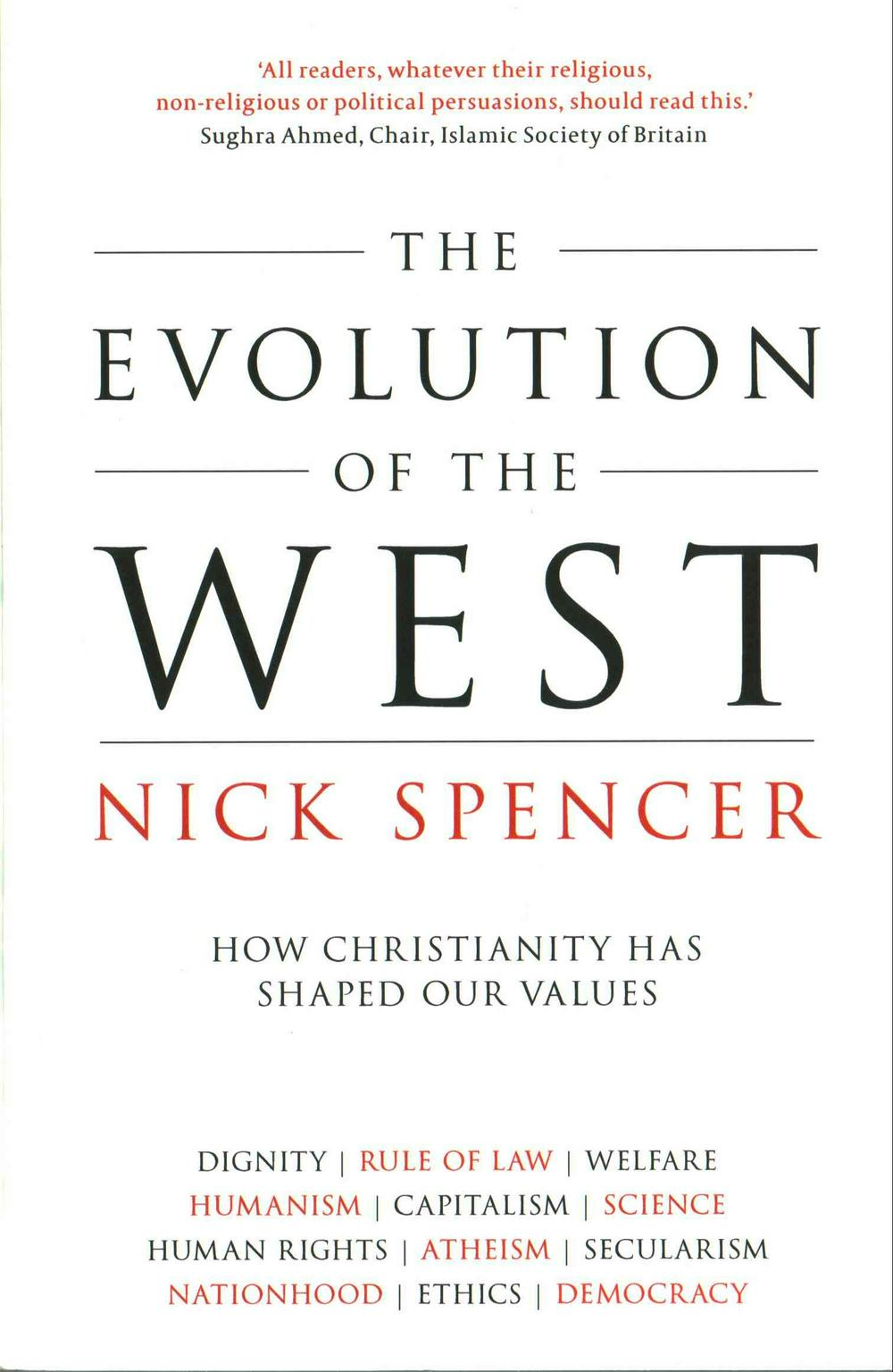 Evolution Of The West by Nick Spencer, ISBN: 9780281075201