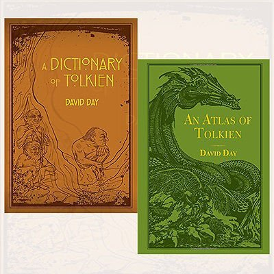 David Day Tolkien Collection 2 Books Bundle (A Dictionary of Tolkien,An Atlas of Tolkien)