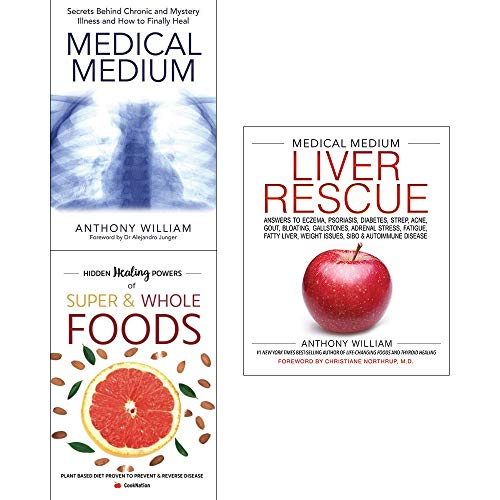 Medical medium liver rescue [hardcover], secrets behind chronic and mystery, hidden healing powers 3 books collection set