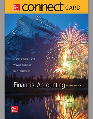Connect Access Card for Financial Accounting by J. David Spiceland, ISBN: 9781259730917