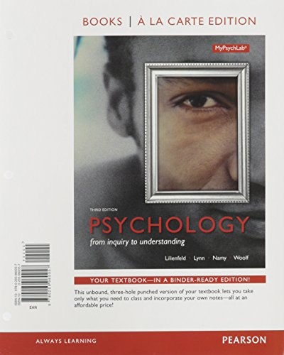 Psychology: From Inquiry to Understanding, Books a la Carte Edition Plus Revel -- Access Card Package