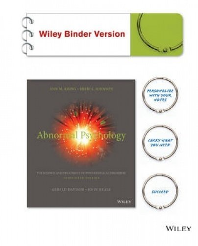 Abnormal Psychology Thirteenth Edition Binder Ready Version+a Student's Guide to DSM-5