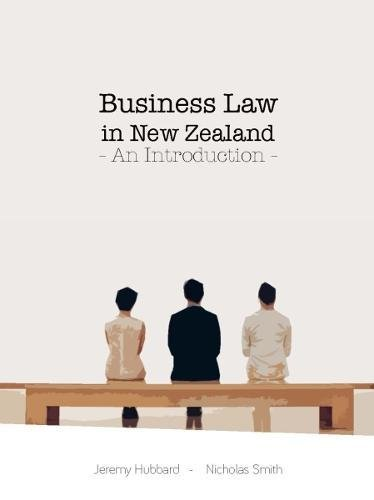 Business Law in New Zealand: An Introduction 2017