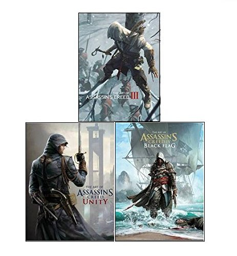 The Art of Assassin's Creed Collection 3 Books Set, (The Art of Assassins Creed III, The Art of Assassins's Creed IV - Black Flag and The Art of Assassin's Creed - Unity)