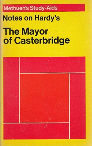 """Hardy's, Thomas, """"Mayor of Casterbridge"""", Notes on by Unknown, ISBN: 9780423462005"""