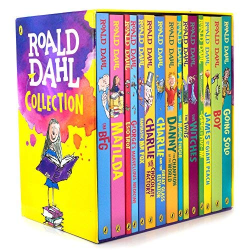 Roald Dahl: 15 books collection pack: The Witches, Matilda, The BFG, Going Solo, the Giraffe the Pelly and Me, The Magic Finger, James and the Giant Peach, The Twits, Charlie and the Great Glass Elevator, Mr Fox, Esio Trot, Charlie Chocolate Factory, by Roald Dahl, ISBN: 9783200327788
