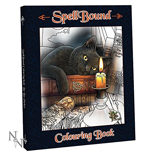 Spellbound - Lisa Parker Colouring Book - 40 Artworks Including Cats,Wolves Owls & More