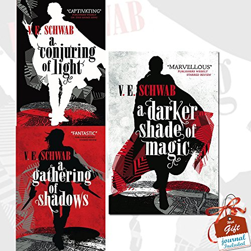 A Darker Shade of Magic Collection 3 Books Bundle With Gift Journal (A Conjuring of Light, A Gathering of Shadows, A Darker Shade of Magic)