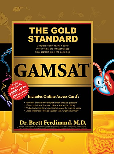 New 2015/16 GAMSAT Book Edition by Gold Standard: Science Review Prep Material by Gold Standard Team, ISBN: 9781927338285