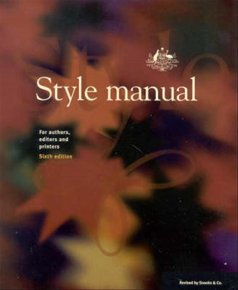 Style Manual by Dcita, ISBN: 9780701636487