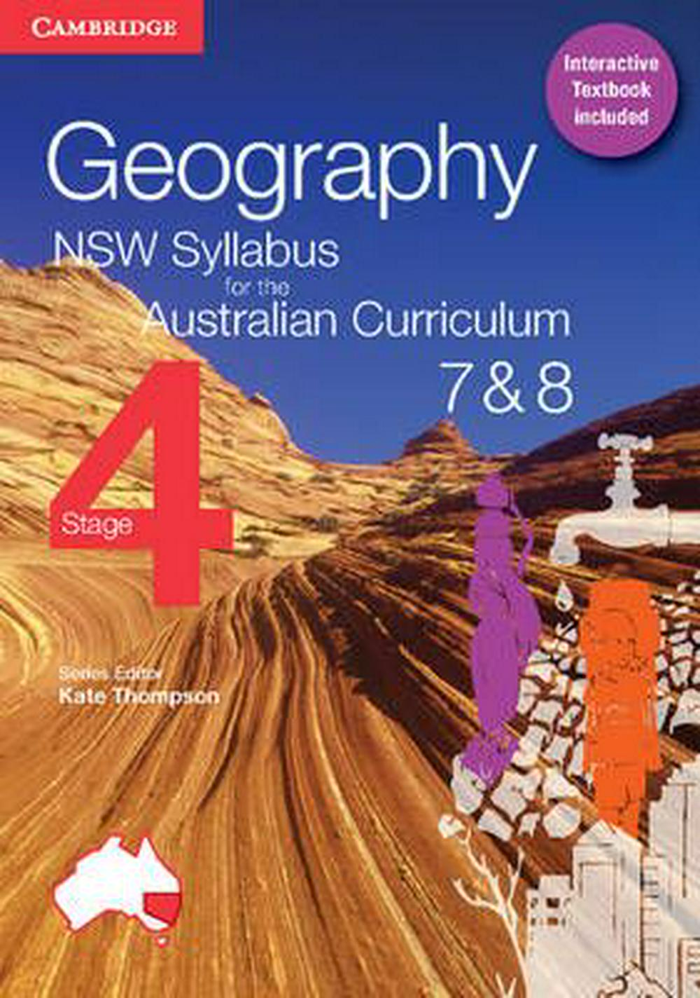Geography NSW Syllabus for the Australian Curriculum Stage 4 Years 7 and 8 Pack (Textbook and Interactive Textbook) by Alan Boddy, ISBN: 9781316601440