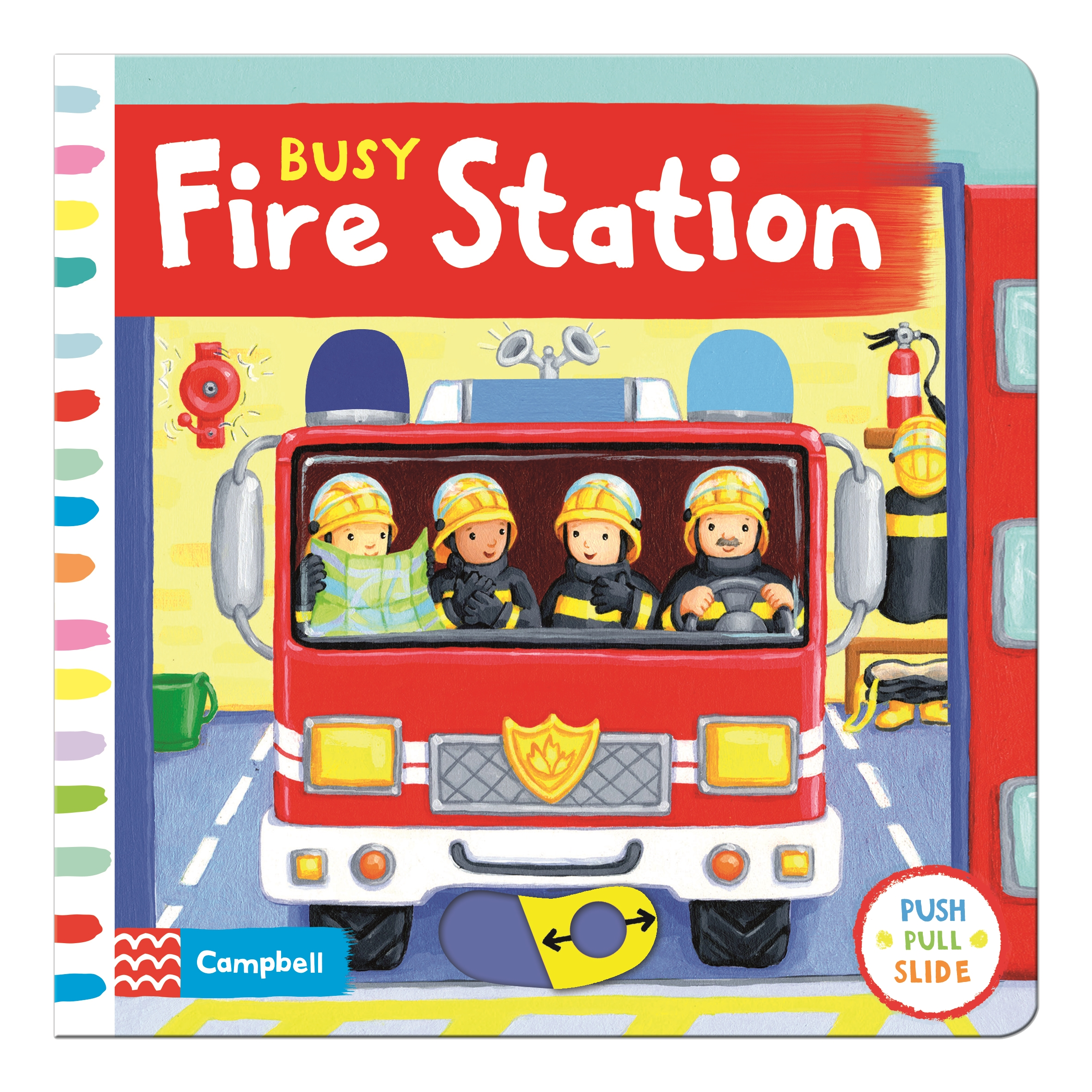 Busy Fire Station: Push, pull and slide the scene to bring the busy fire station to life! by Rebecca Finn, ISBN: 9781447277033