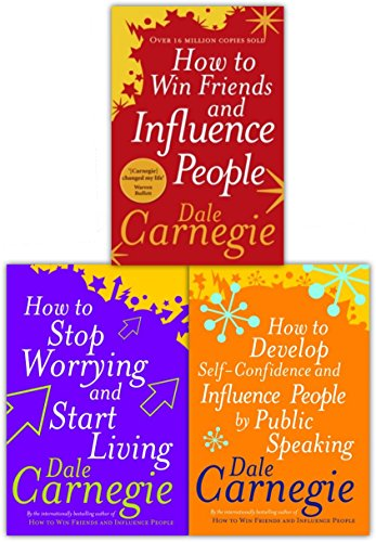 Dale Carnegie Personal Development Collection 3 Books Set (How to Win Friends and Influence People, How To Stop Worrying And Start Living, How to Develop Self-confidence and Influence People by Public Speaking)