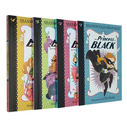 The Princess in Black Collection 4 Books Set (The Princess in Black, The Perfect Princess Party, The Hungry Bunny Horde, Takes a Vacation)