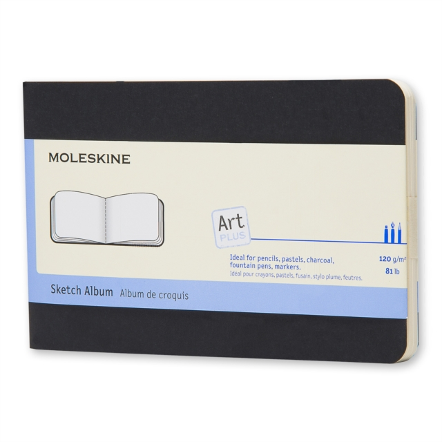 Moleskine Art Plus Sketchbook, Pocket, Plain, Black, Soft Cover (3.5 X 5.5)