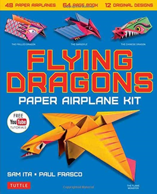 Flying Dragons Paper Airplane Kit48 Paper Airplanes, 64 Page Book, 12 Original D...