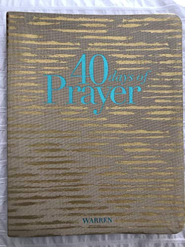 40 days of Prayer Small Group Study Guide by Rick Warren, ISBN: 9781422804643