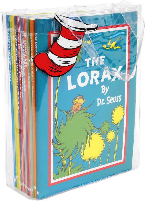 Dr. Seuss 12 books set collection in a bag(The cat in the hat,The cat in the hat comes back,Horton hears who,One fish two fish red fish blue fish,Green eggs and ham,Oh the places you'll go,There's a wocket in my pocket,The lorax,Fox in socks.) by Dr Seuss, ISBN: 9780007923489