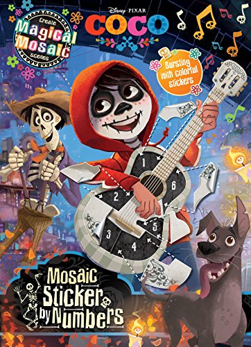 Disney Pixar Coco Mosaic Sticker by NumbersWith Over 1000 Stickers