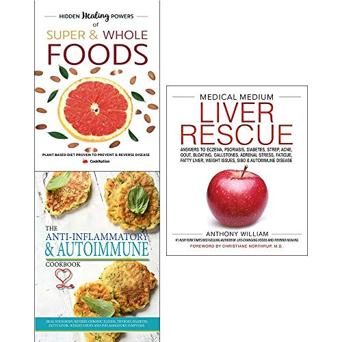 Medical medium liver rescue [hardcover], hidden healing powers, medical autoimmune life changing 3 books collection set