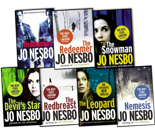 Jo Nesbo 7 Books Collection Set Pack RRP 55.93 (The Leopard, The Devils Star, Headhunters, The Redbreast, Nemesis, The snowman, The Redeemer) by Jo Nesbo, ISBN: 9780399968600