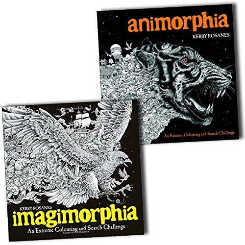 Animorphia and Imagimorphia An Extreme Colouring and Search Challenge 2 Books Collection by Kerby Rosanes, ISBN: 9789124367916