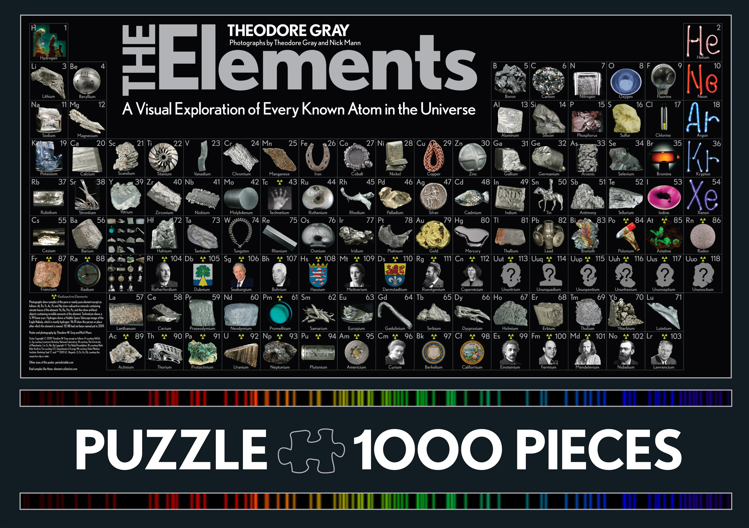 The Elements Puzzle: 1000 Pieces by Theodore Gray, ISBN: 9781579128883