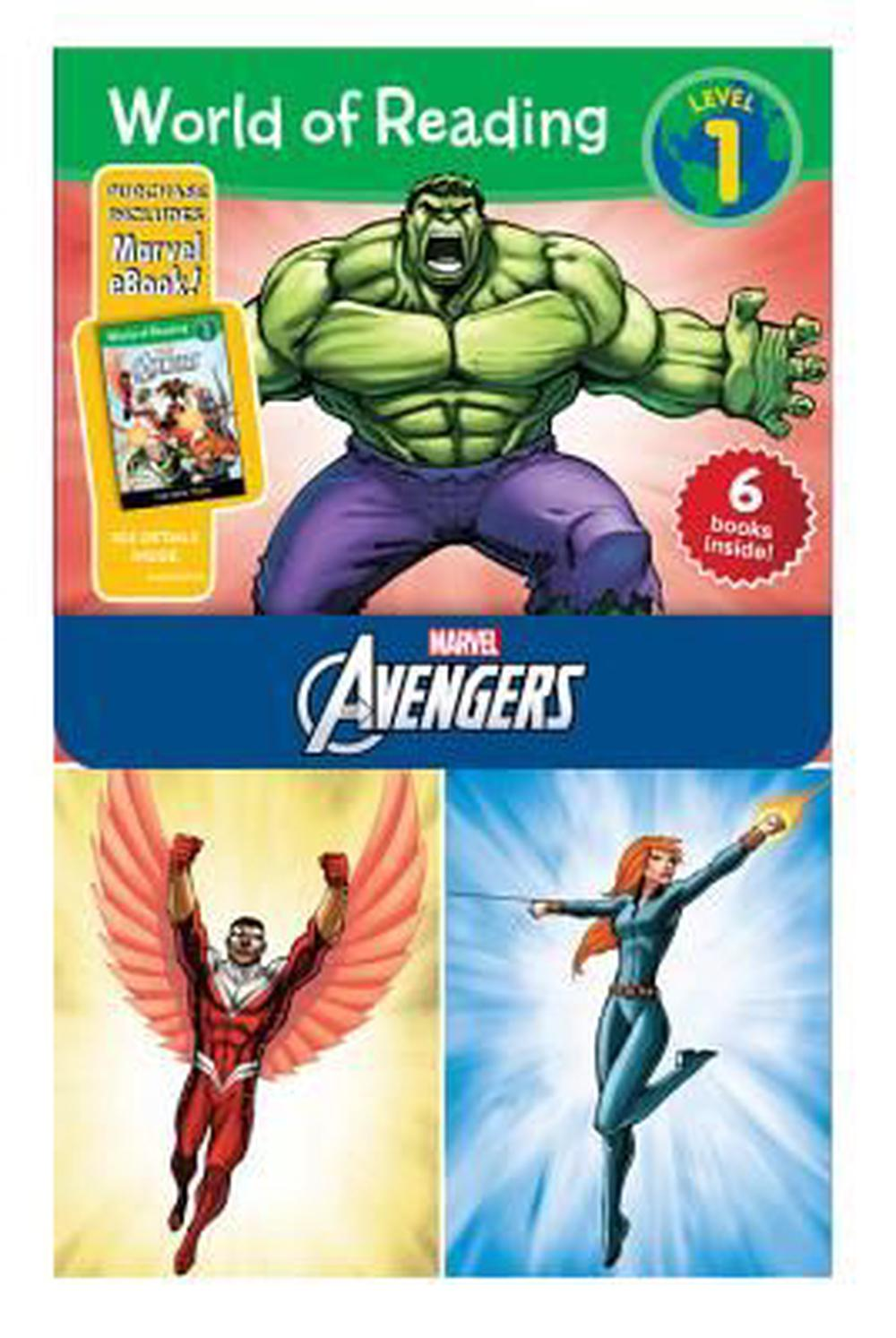World of Reading Avengers Boxed Set: Level 1 - Purchase Includes Marvel eBook! by Disney Book Group, ISBN: 9781484704387