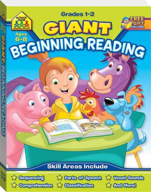 School Zone Giant Beginning Reading WorkbookSchool Zone