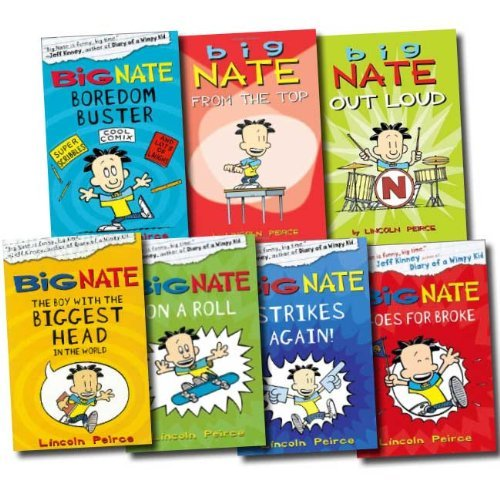 Big Nate Series Collection Lincoln Peirce 7 Books Set (Big Nate on a Roll, Big Nate Goes for Broke, The Boy with the Biggest Head in the World, Big Nate Strikes Again, Big Nate Boredom Buster, Big Nate from the Top, Big Nate Out Loud) by Lincoln Peirce, ISBN: 9783200303706
