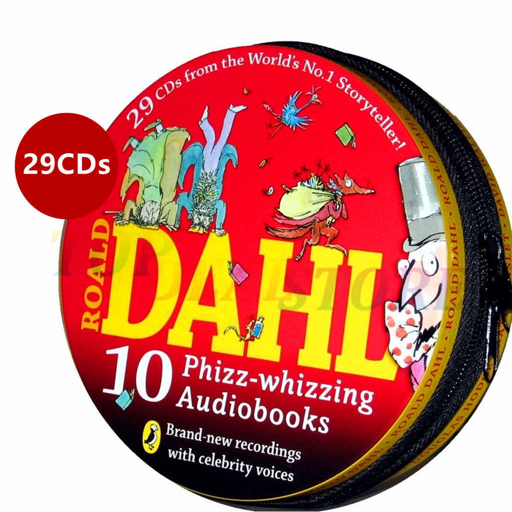 Roald Dahl: 10 Phizz-whizzing Audiobooks, 29 CD Collection by Roald Dahl, ISBN: 9780141352343