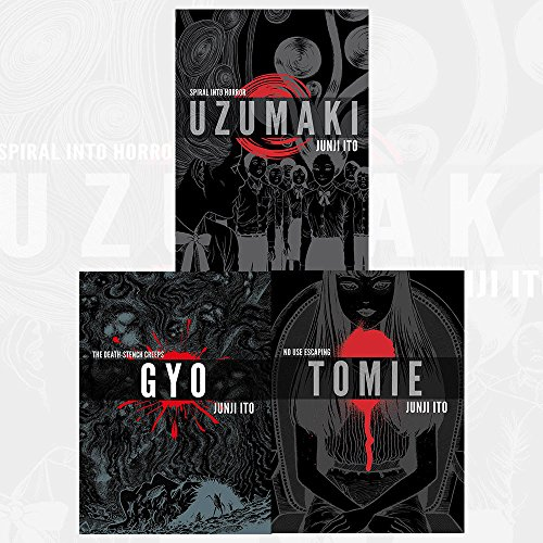 Junji Ito Collection 3 Books Bundles (UZUMAKI 3-IN-1 DLX ED HC,GYO 2IN1 DLX ED HC,Tomie Complete Deluxe Edition)
