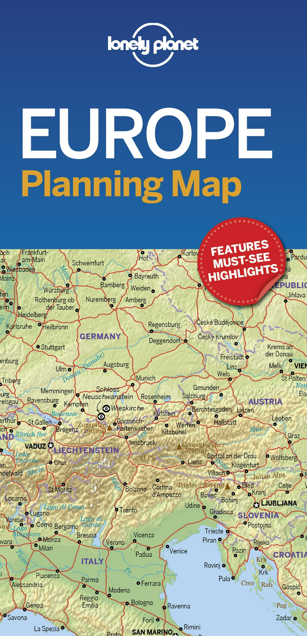 Lonely Planet Europe Planning Map
