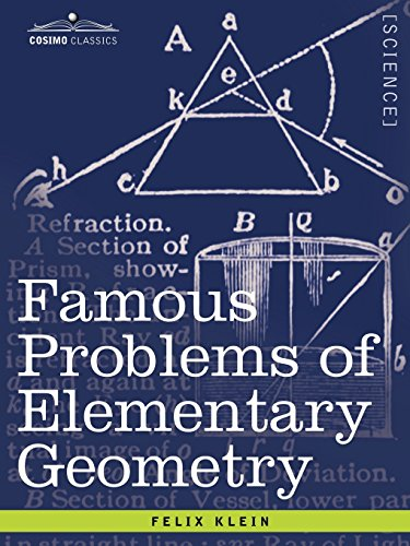 Famous Problems of Elementary Geometry: The Duplication of the Cube, the Trisection of an Angle, the Quadrature of the Circle.