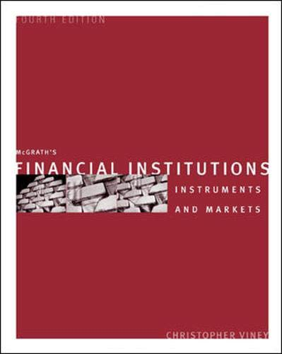 Financial Institutions by Christopher Viney, ISBN: 9780074714423