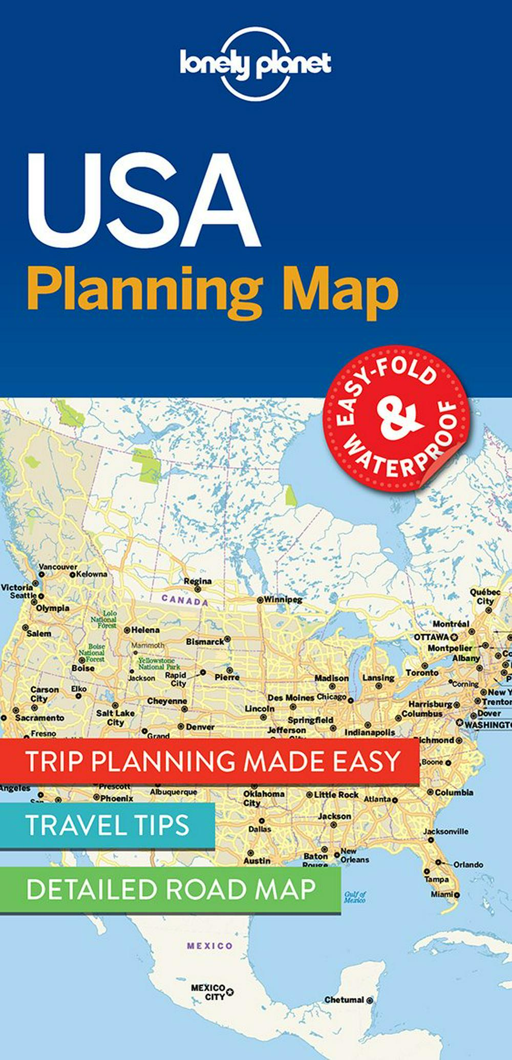 Lonely Planet USA Planning MapTravel Guide