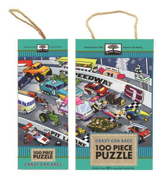 Crazy Car RaceGreen Start Puzzle 100 Pieces