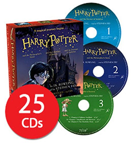 Harry Potter Books 1-3: Audio Collection - 25 CDs Stephen Fry by J. K. Rowling, ISBN: 9781408896402