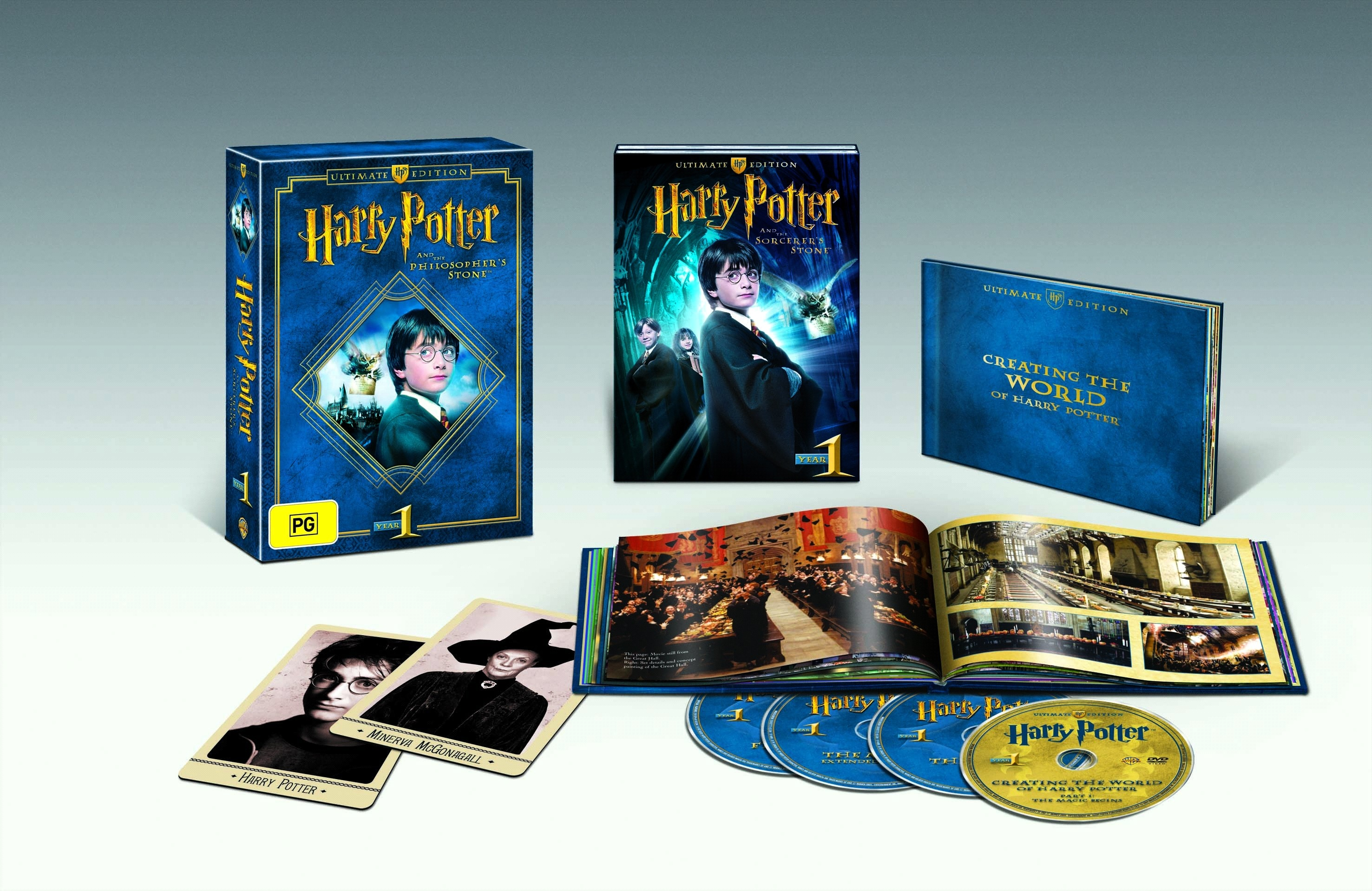 Harry Potter and the Philosopher's Stone (3 Disc Collector's Edition) by Emma Watson,Rupert Grint,Daniel Radcliffe,Maggie Smith,Chris Columbus, ISBN: 9325336110713