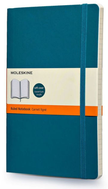 Moleskine Classic Colored Notebook, Large, Ruled, Underwater Blue, Soft Cover (5 X 8.25)