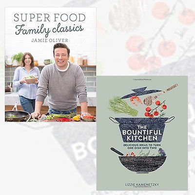 Lizzie Kamenetzky and Jamie Oliver Collection 2 Books Bundles - Super Food Family Classics [Hardcover],The Bountiful Kitchen [Paperback] by Jamie Oliver, ISBN: 9789123487233