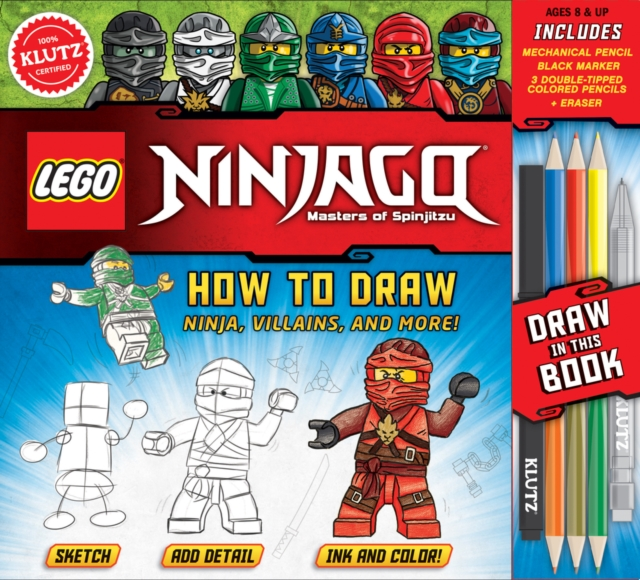 LEGO NINJAGO: How to Draw Ninja, Villains and More! (Klutz) by Pat Murphy, ISBN: 9781338137217