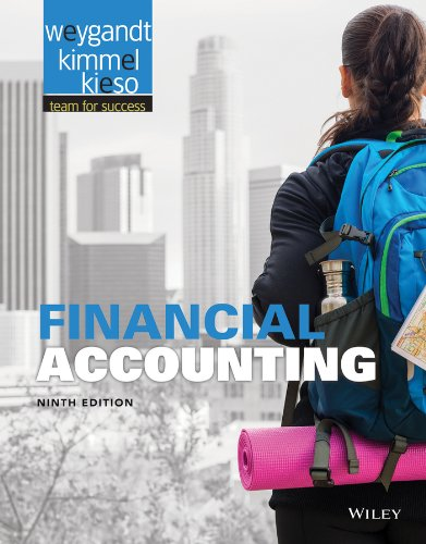 Financial Accounting 9E with WileyPlus Card by Weygandt, Kieso, Kimmel, ISBN: 9781118855232