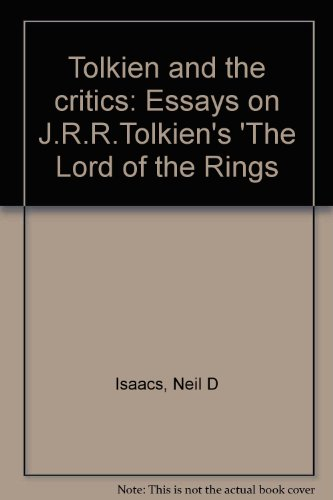 Essay Writing High School Tolkien And The Critics Essays On Jrrtolkiens The Lord Of The Rings By High School Essay also Good High School Essay Topics Booko Comparing Prices For Tolkien And The Critics Essays On  Example Of Proposal Essay