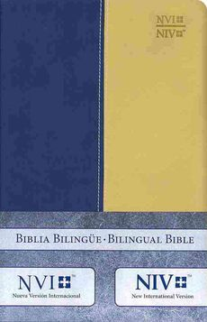 NVI / NIV Spanish/English Bible Blue Duotone Leather