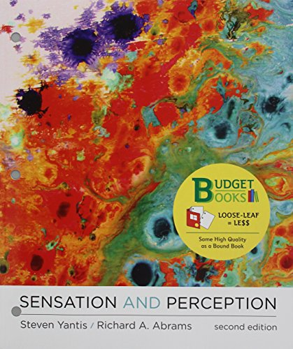 Sensation and Perception + Launchpad Solo for Yantis' Sensation and Perception, Six Months Access, 2nd Ed. by Steven Yantis, ISBN: 9781319093884